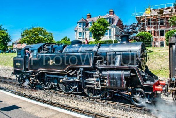 Swanage, England 3rd July 2011 Swanage Rail – Steam Engine - Photo Walk UK