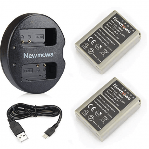 Newmowa BLN-1 Replacement Battery (2-Pack) and Dual USB Charger for Olympus BLN-1, BCN-1 and Olympus OM-D E-M1, OM-D E-M5, PEN E-P5, OM-D E-M5 II 5
