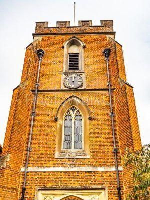 St Johns Red Brick Church and Clock Windlesham, Surrey - Photo Walk UK