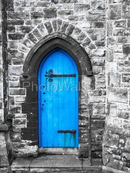 Blue Church Door Penzance Cornwall - Photo Walk UK