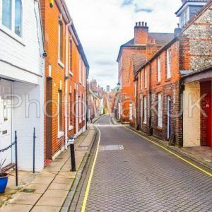 A Narrow Lane in Winchester City - Photo Walk UK