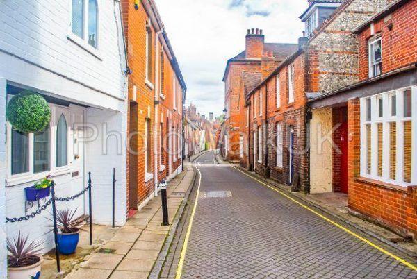 A Narrow Lane in Winchester City - Photo Walk UK
