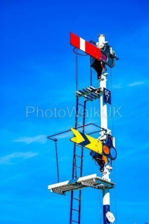Railway signals - Photo Walk UK
