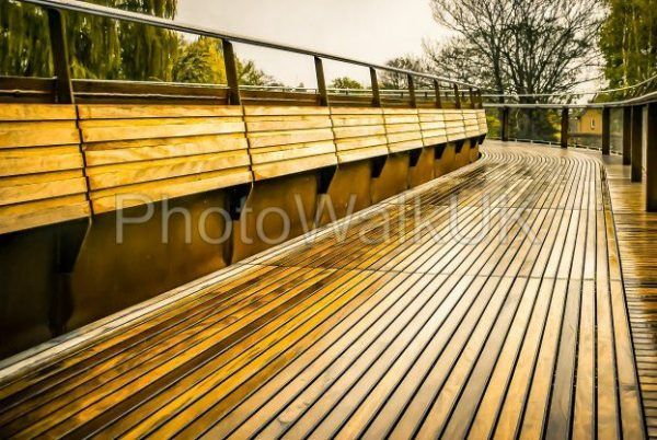 Wooden decked bridge - Photo Walk UK
