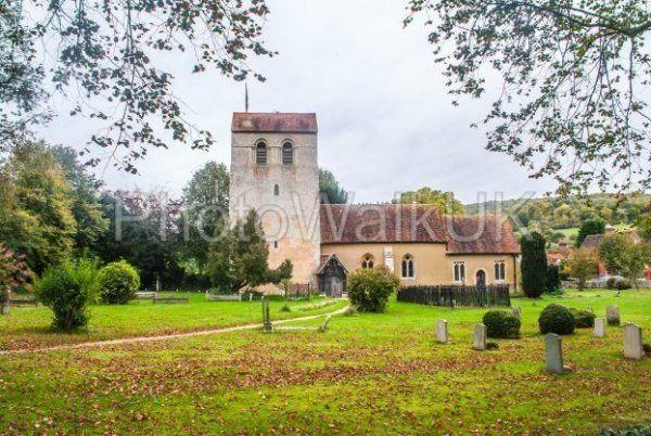 St Mary the Virgin Church and churchyard, Turville, Buckinghamshire, England, - Photo Walk UK