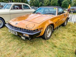 Tichborne, Hampshire, England September 7 2019. Triumph TR7 Roadster, Passenger's Side - Photo Walk UK