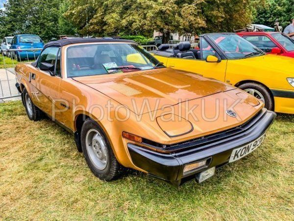 Tichborne, Hampshire, England September 7 2019. Triumph TR7 Roadster. Driver's Side - Photo Walk UK