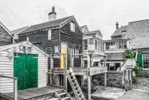 Timber and wooden huts in Lynsted, Kent, England - Photo Walk UK