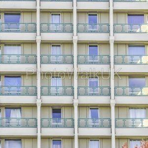 Concrete Tower Block  – Windows and Balconies  – Bracknell Berkshire England - Photo Walk UK
