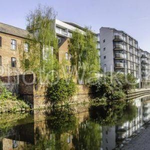 Nottingham Canal, Nottingham, England. April 21 2015. View along Canal - Photo Walk UK