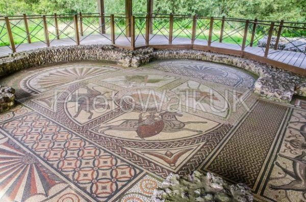 Large Roman Mosaic near Littlecote House Wiltshire - Photo Walk UK
